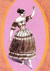 """Fanny Elssler bailando """"La Cachucha"""". Programa de mano del espectáculo """"La Escuela bolera y el ballet"""""""